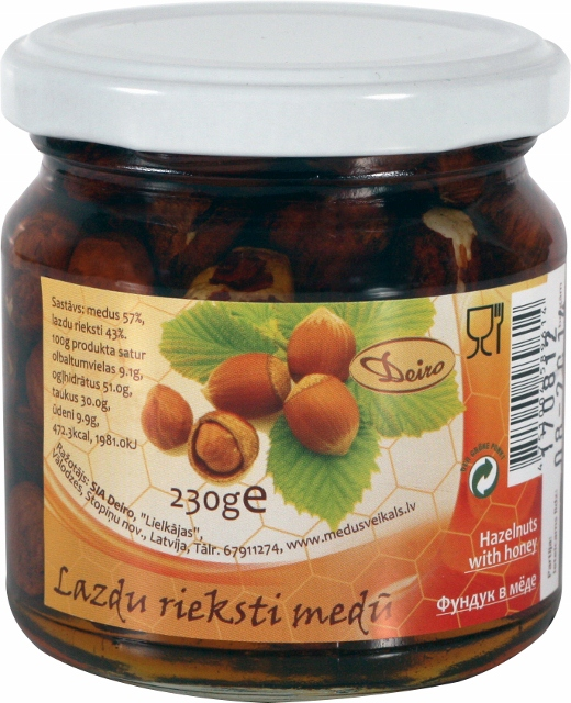 Hazelnuts in honey